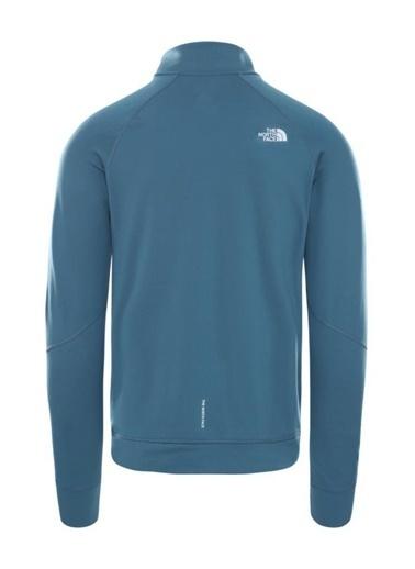 The North Face Ambition Yarım Fermuarlıerkek Sweatshirt Mavi Renkli